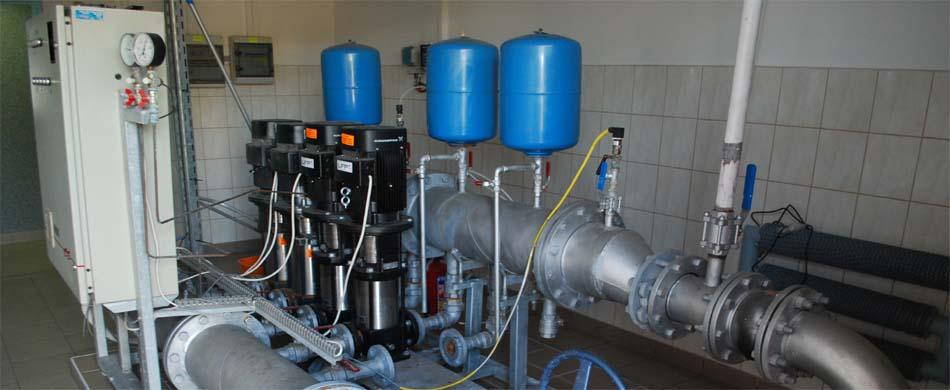 Hydrofornia sieci wiejskiej w miejscowości Kamionka